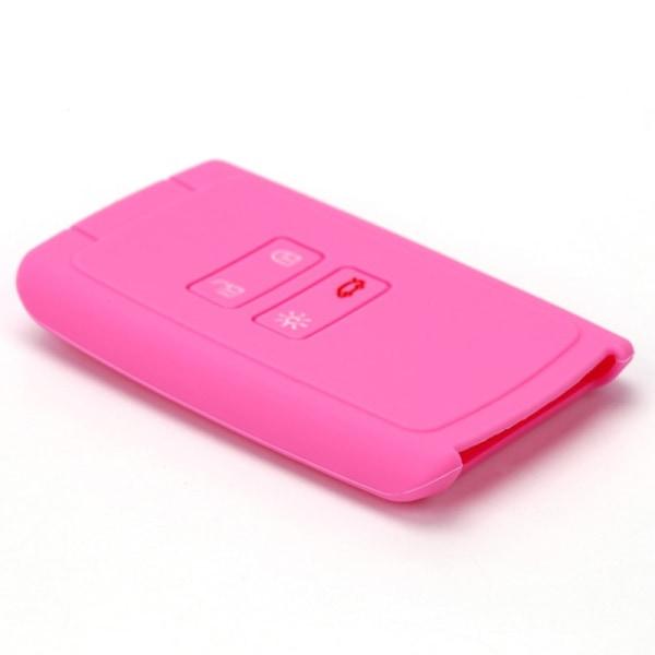nya tillbehör bil silikon nyckelväska nyckelskydd skal dekor Pink