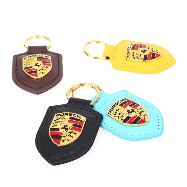Porsche Shield nyckelring för Carling 911 Palamella Macan Leather