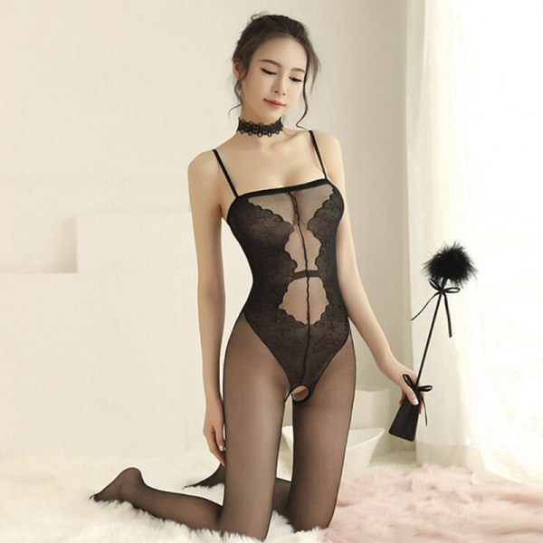 Sexig underkläder Bodystocking Women Tight Underwear Bodysuit Open