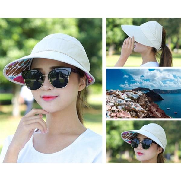 UV-skydd solhatt hopfällbar stor kantkant visirmössa strand solhatt