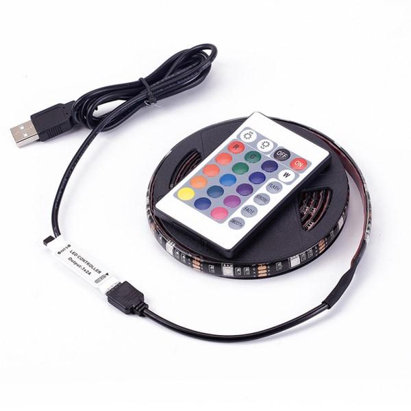 Led Slinga 5050 USB rgb färg Remote 24knappars - 3 meter Vatten