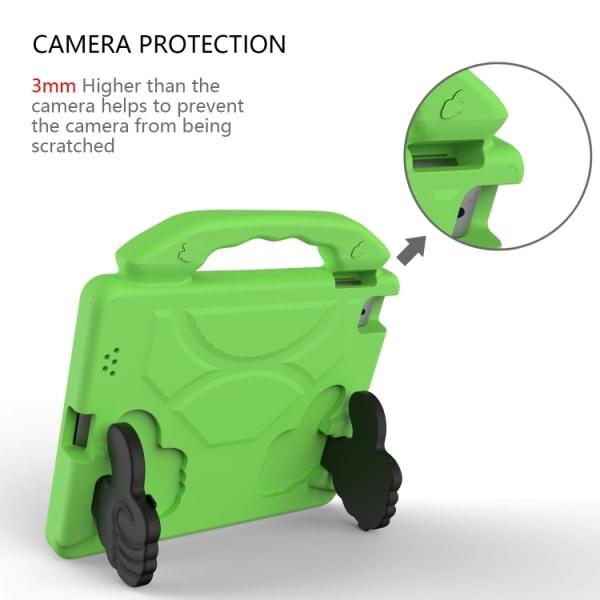 Skyddande skal med handtag till iPad 4 / 3 / 2 Grön