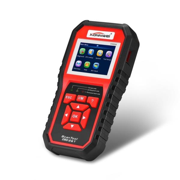 KW850 OBDII / CAN Bildiagnostik +  Batteri och Volt