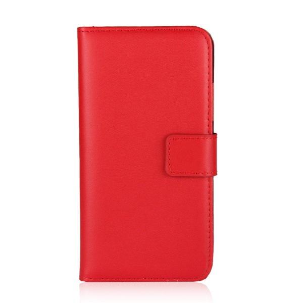 Samsung Galaxy A02s - Plånboksfodral I Äkta Läder - Röd Red Röd