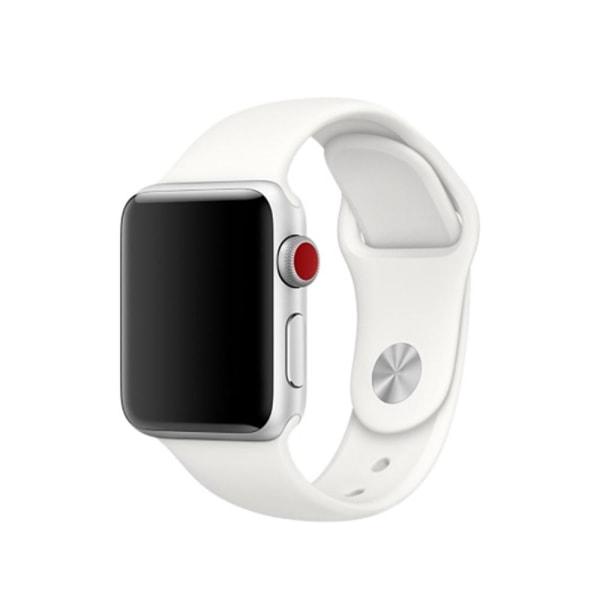 Silikon Armband Apple Watch 44/42 mm - Vit (M/L)