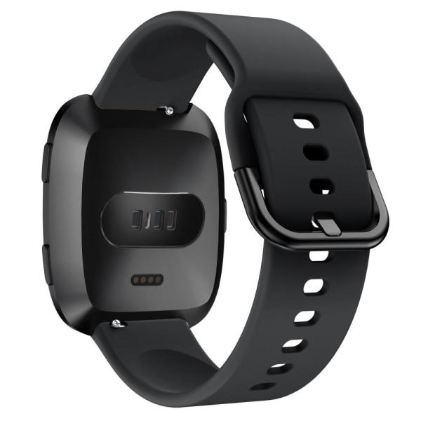 Silikon Armband Fitbit Versa/Versa 2 - Svart Black Svart