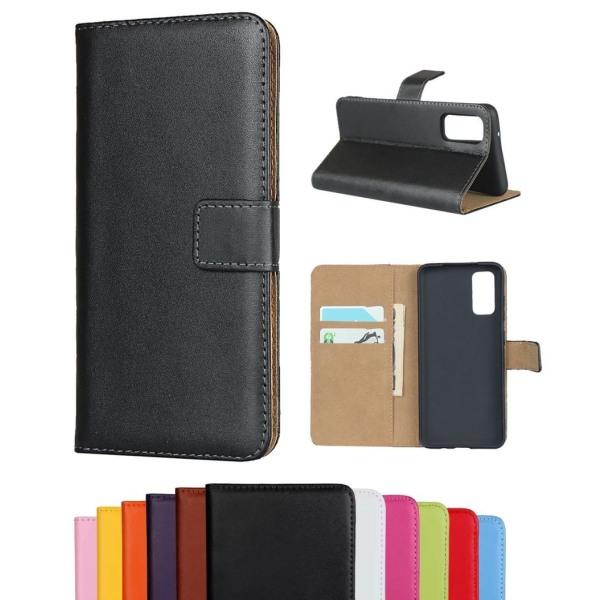 Samsung Galaxy S20 FE - Plånboksfodral I Äkta Läder - Brun Brown Brun