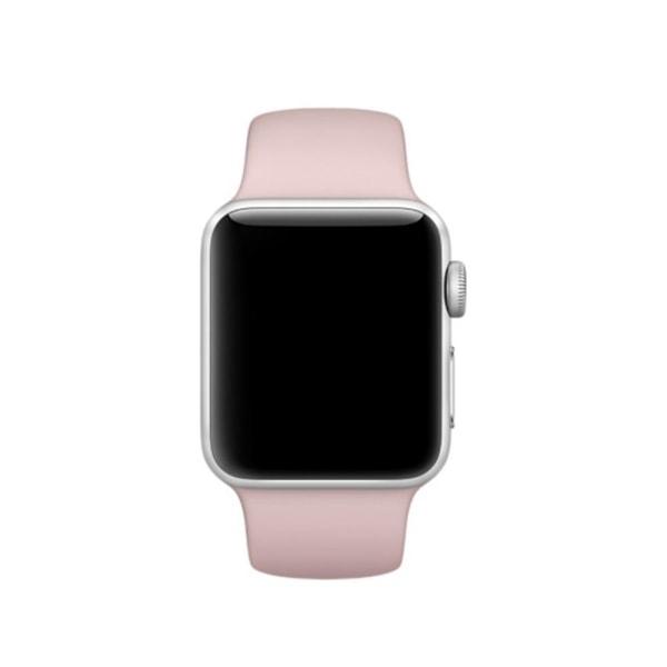 Silikon Armband Apple Watch 40/38 mm (S/M) - Ljus Rosa LightPink Ljus Rosa