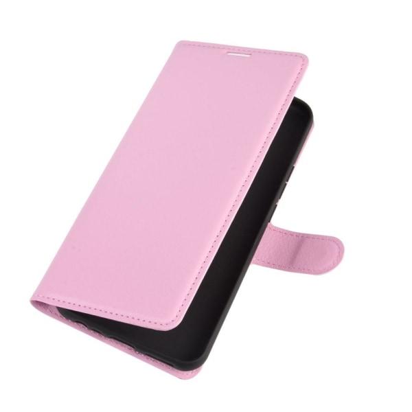 Xiaomi Redmi 9 - Litchi Plånboksfodral - Ljus Rosa LightPink Ljus Rosa