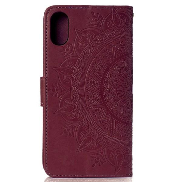iPhone XR - Mandala Plånboksfodral - Brun Brown Brun