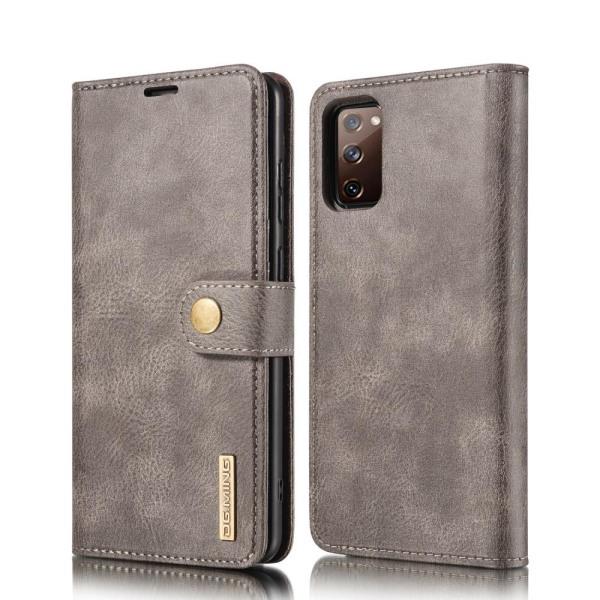 Samsung Galaxy S20 FE - DG.MING 2in1 Magnet Fodral - Grå Grey Grå