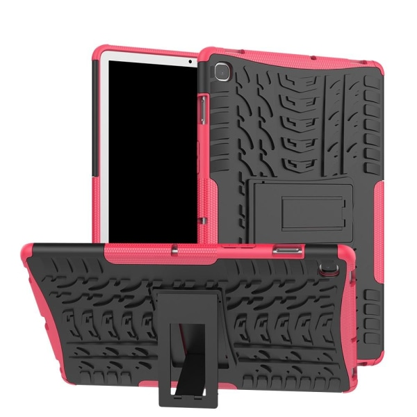 Samsung Galaxy Tab S5e - Rugged Kickstand Armor Skal - Rosa Rosa