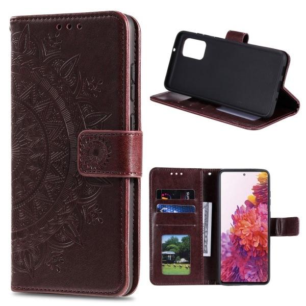 Samsung Galaxy S20 FE - Mandala Fodral - Brun Brown Brun