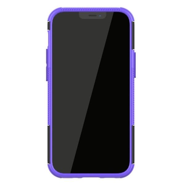 iPhone 12 Mini - Ultimata Stöttåliga Skalet med Stöd - Lila Purple Lila
