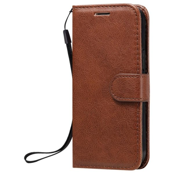 iPhone 12 Mini - Plånboksfodral - Brun Brown Brun