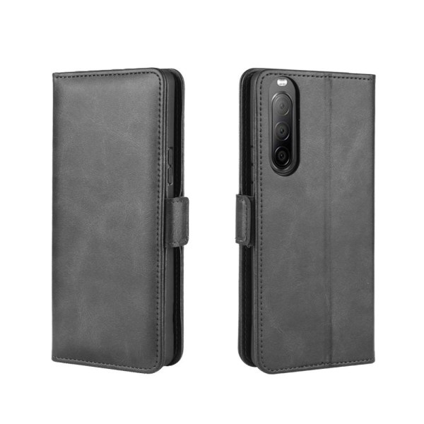 Sony Xperia 10 II - Magnetiskt Plånboksfodral - Svart Black Svart