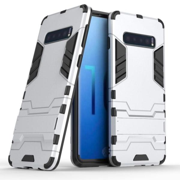 Samsung Galaxy S10 - Hybrid Armour Skal - Silver Silver
