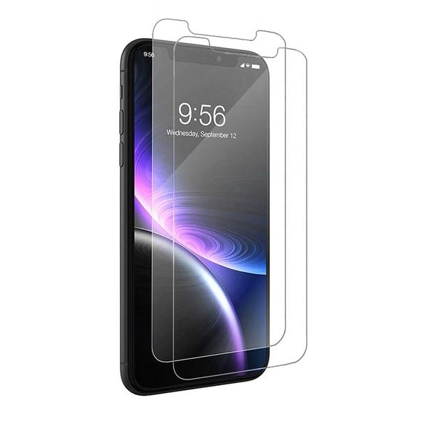 2-Pack härdat glas för iPhone 11 / iPhone Xr
