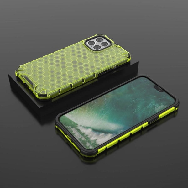 iPhone 12 Pro Max - Armor Honeycomb Textur - Grön Green Grön
