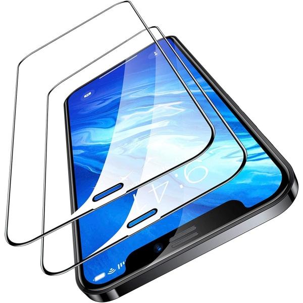 iPhone 12 Pro Max - 2-Pack Heltäckande Skärmskydd i Härdat Glas iPhone 12 Pro Max