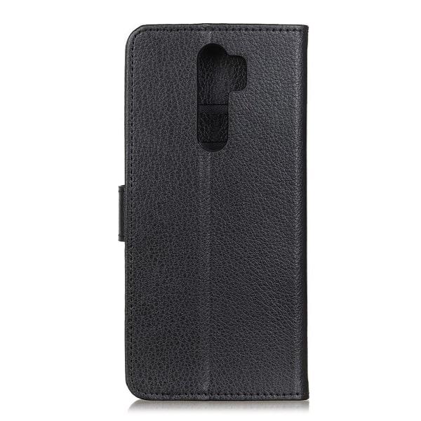 Xiaomi Redmi 9 - Litchi Fodral - Svart Black Svart