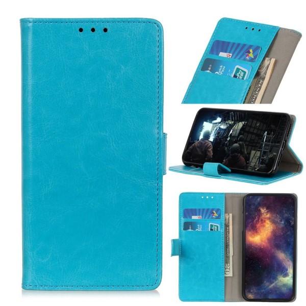 iPhone 12 Mini - Crazy Horse Fodral - Blå Blue Blå