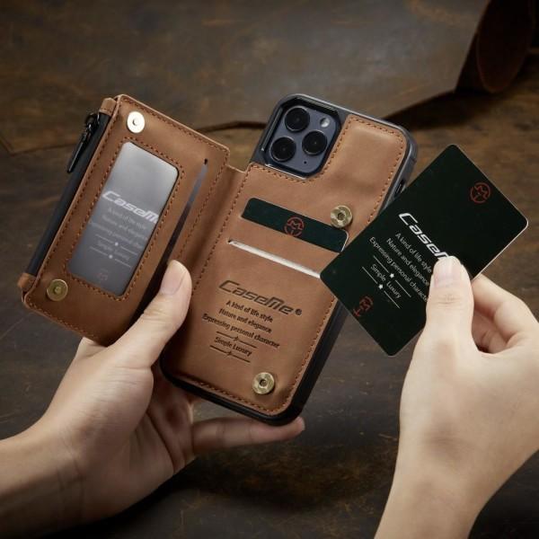 iPhone 12 / 12 Pro - CASEME Skal med Plånboksfunktion - Brun Brown Brun