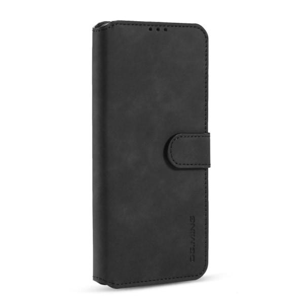 Xiaomi Redmi 9 - DG.MING Retro Fodral - Svart Black Svart