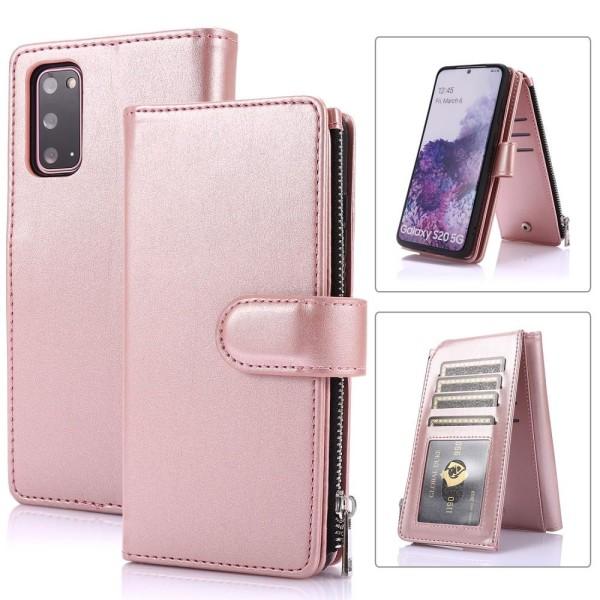Samsung Galaxy S20 FE - Multifunktionellt Plånboksfodral - Roség Roséguld