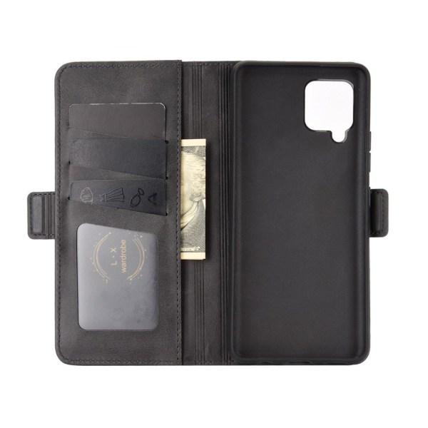Samsung Galaxy A42 - Fodral Med Magnetisk Stängning - Svart Black Svart