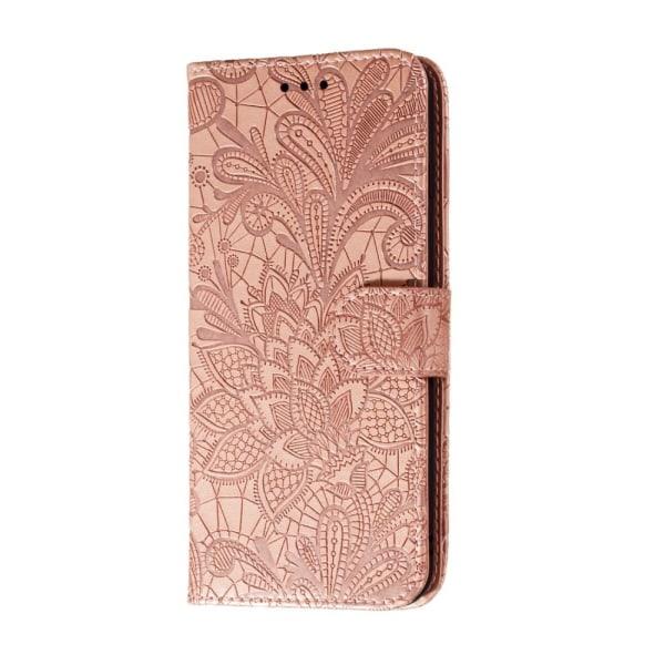 Samsung Galaxy A41 - Flower Plånboksfodral - Roséguld Roséguld