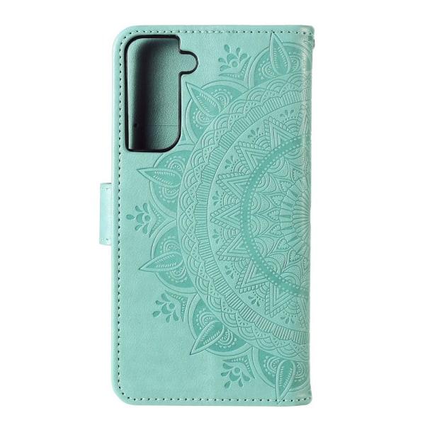 Samsung Galaxy S21 Plus - Mandala Plånboksfodral - Grön Green Grön