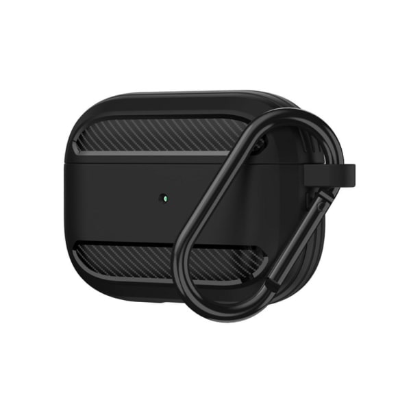 AirPods Pro Kolfiber Textur Skal - Svart Black Svart