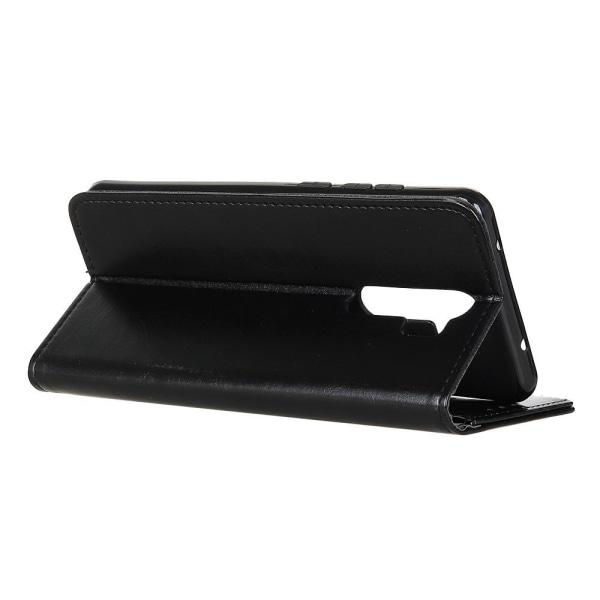 Xiaomi Redmi 9 - Crazy Horse Fodral - Svart Black Svart