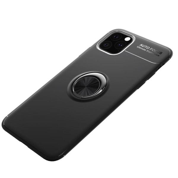 iPhone 11 Pro - Ring Skal - Funkar med magnethållare - Svart Black Svart