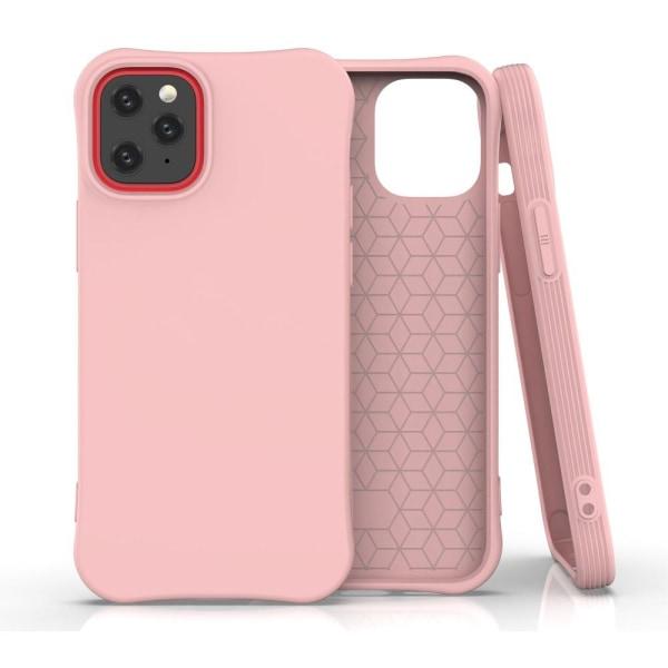 iPhone 12 Mini - Shockproof Matt TPU Skal - Ljus Rosa LightPink Ljus Rosa
