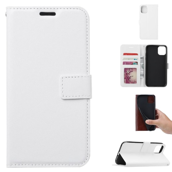 Samsung Galaxy A51 - Crazy Horse Plånboksfodral - Vit White Vit