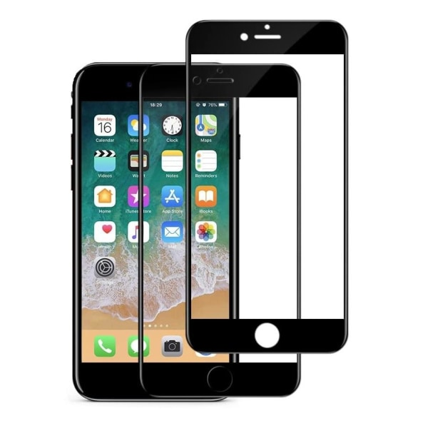iPhone SE (2020) - 2-Pack Heltäckande Härdat Glas - Full Fit iPhone SE (2020)