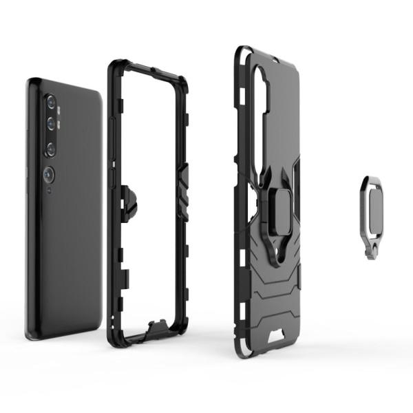 Xiaomi Mi Note 10/10 Pro - Hybrid Ring Skal - Svart Black Svart