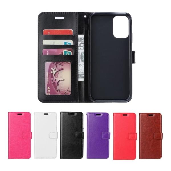 Samsung Galaxy A51 - Crazy Horse Plånboksfodral - Välj Färg! Black Svart