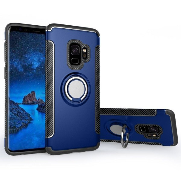 Samsung Galaxy A6 - Ring Skal - Mörk Blå DarkBlue Mörk Blå