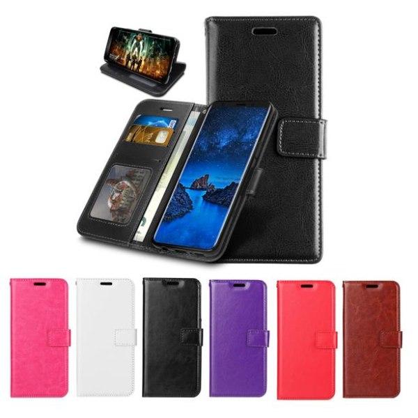 Samsung Galaxy A21s - Plånboksfodral - Välj Färg! Black Svart