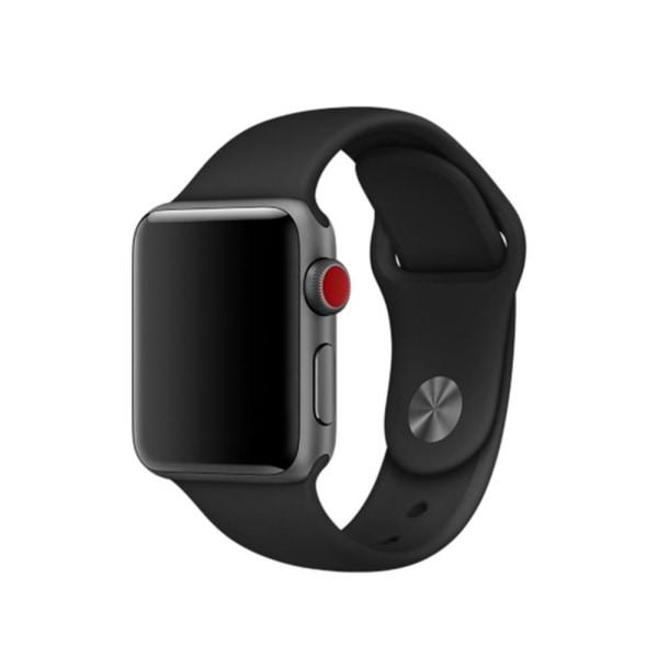 Silikon Armband Apple Watch 40/38 mm (S/M) - Svart Black Svart