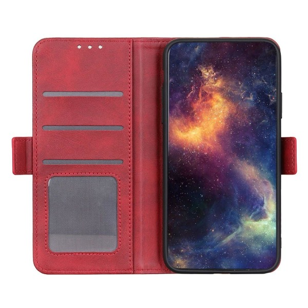 Samsung Galaxy A32 5G - Fodral Med Magnetisk Stängning - Röd Red Röd