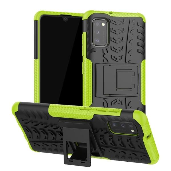 Samsung Galaxy A41 - Ultimata Stöttåliga Skalet med Stöd - Grön Green Grön