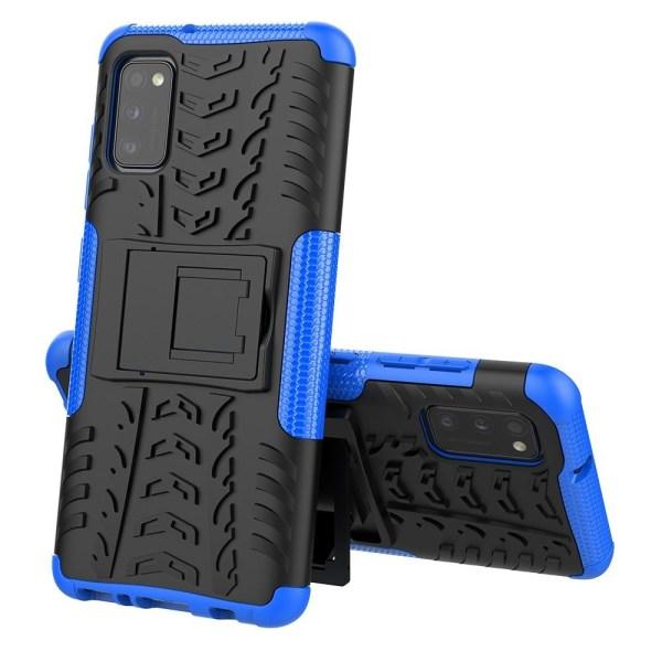 Samsung Galaxy A41 - Ultimata Stöttåliga Skalet med Stöd - Blå Blue Blå