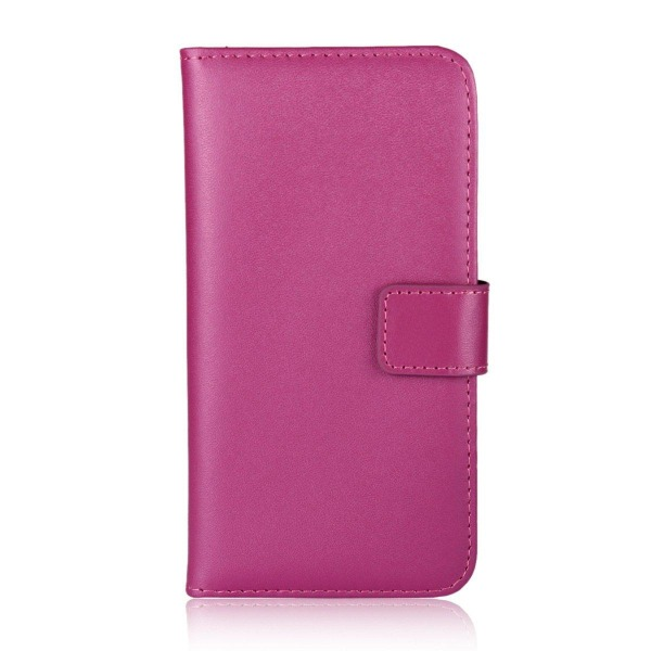 Huawei P40 Pro - Plånboksfodral I Äkta Läder - Rosa Pink Rosa