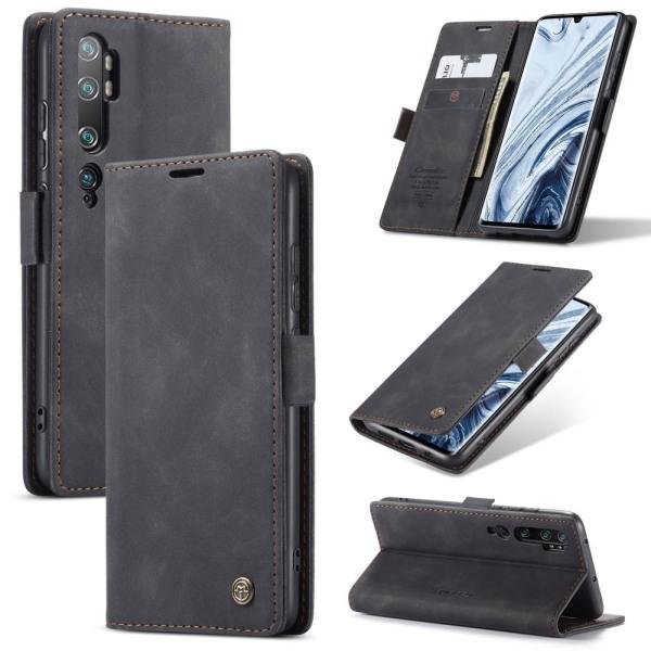 Xiaomi Mi Note 10 / Note 10 Pro - CASEME Plånboksfodral - Svart Black Svart