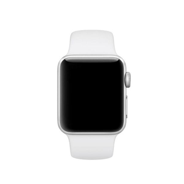 Silikon Armband Apple Watch 40/38 mm (S/M) - Vit White Vit
