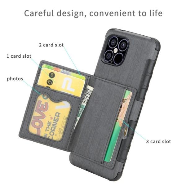 iPhone 12 Mini - Skal Med Plånboksfunktion - Grå Grey Grå